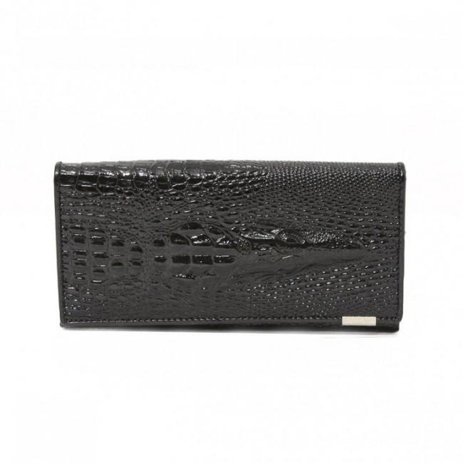 Unikatowy krokodyli portfel Czarny