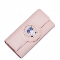 JUST STAR Bajkowy portfel ze skóry ekologicznej Różowy