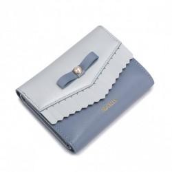 NUCELLE Krótki portfel z perełką Jasnoniebieski