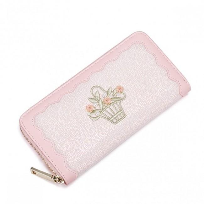 9145233f51689 NUCELLE Powabny portfel różowy różowy skóra ekologiczna Nucelle Portfele