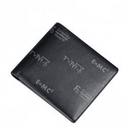 SAMMONS Skórzany krótki portfel męski czarny