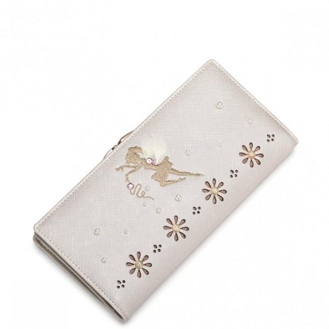 6785dc0365742 JUST STAR Długi portfel Dobra wróżka złoty złoty skóra ekologiczna ...