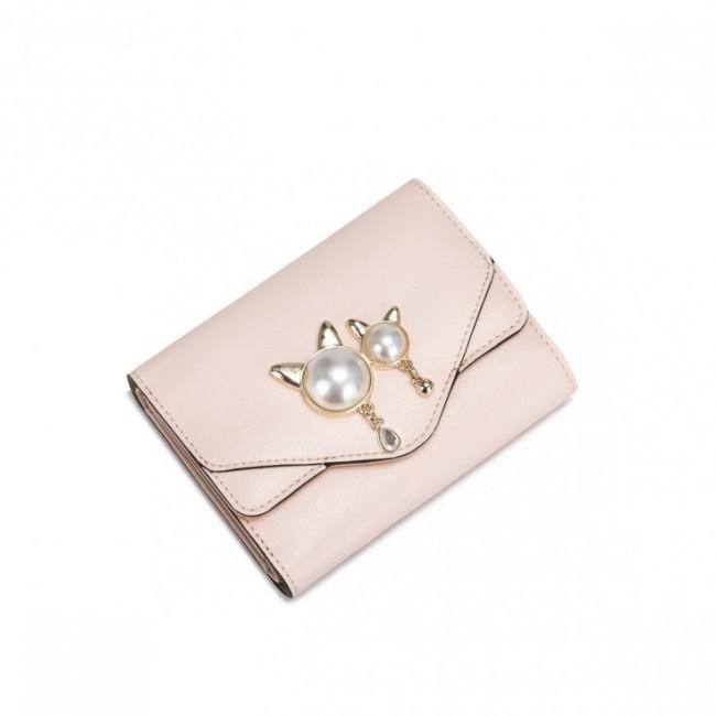 NUCELLE Portfel Złote kotki różowy
