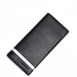 SAMMONS Skórzany długi portfel męski czarny