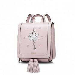 NUCELLE Plecak z baletnicą Różowy