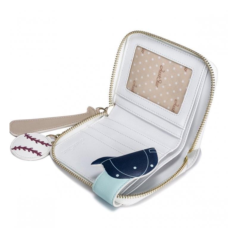d06f64132f5fb JUST STAR Króki portfel z kotem ecru zielony skóra ekologiczna Just ...