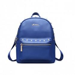 Uroczy plecak ze skóry naturalnej Niebieski