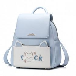 JUST STAR Plecak rock cat niebieski