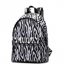 JOLUCY Duży plecak zebra czarno-biały