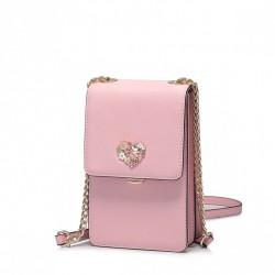 Niewielka damska torebka na telefon Różowa