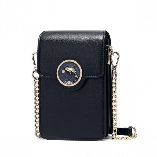NUCELLE Mini torebka na telefon czarna