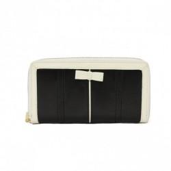 Klasyczny portfel z kokardką Czarny