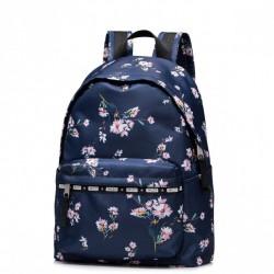 JOLUCY Kwiatowy plecak granatowy