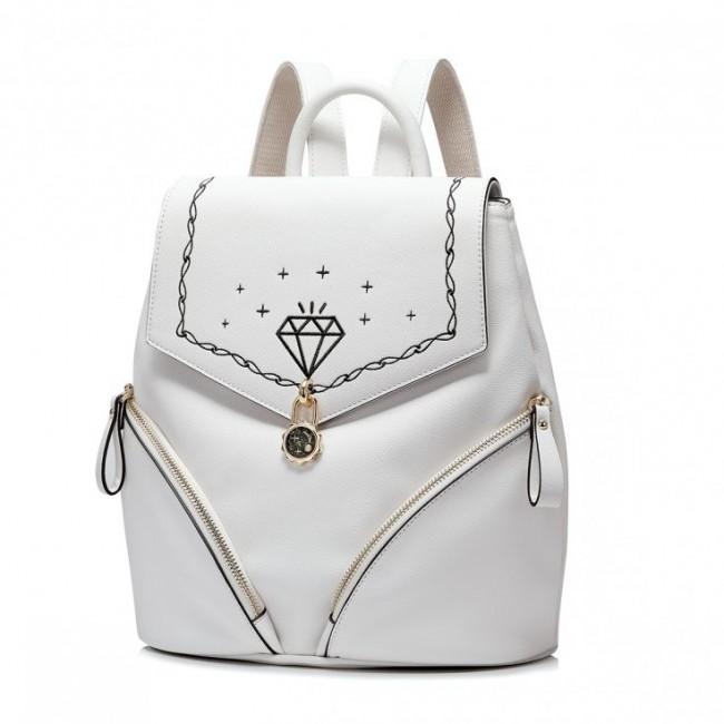 JUST STAR Stylowy plecak biały
