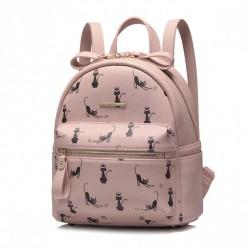 NUCELLE Plecak z kotami różowy
