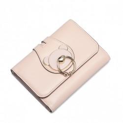 NUCELLE Ozdobny krótki portfel pudrowy