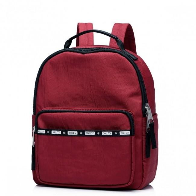 JOLUCY Stylowy plecak vintage czerwony