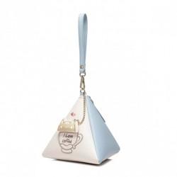 Mini torebka piramidka Niebieska