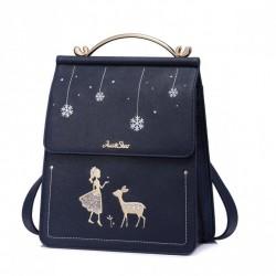 JUST STAR Bajkowy plecak z haftem Granatowy