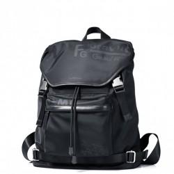 SAMMONS Czarny plecak z napisami czarny