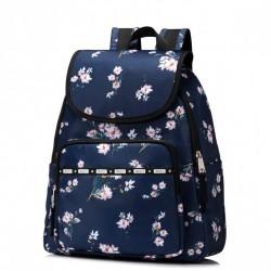 JOLUCY Uroczy plecak w kwiatki Granatowy