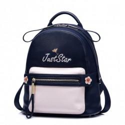 JUST STAR Uroczy dziewczęcy plecak Granatowy