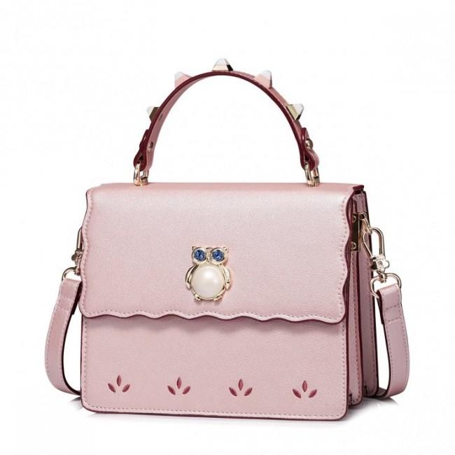JUST STAR Zgrabna torebka z sową Różowa