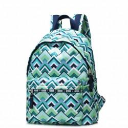 JOLUCY Zielony plecak w geometryczne wzory