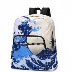 JOLUCY Szeroki plecak z motywem morza