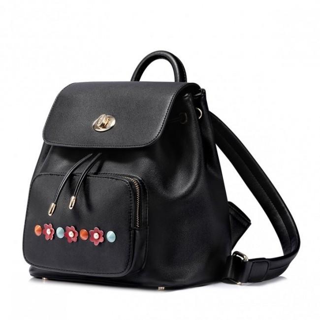NUCELLE Czarny stylowy plecak