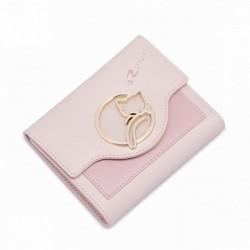 NUCELLE Krótki portfel Różowy
