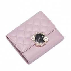 NUCELLE Krótki pikowany portfel Różowy