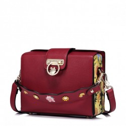 JUST STAR Zgrabna torebka na ramię czerwona