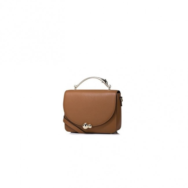 NUCELLE Klasyczna torebka z modnym uchwytem Brązowa