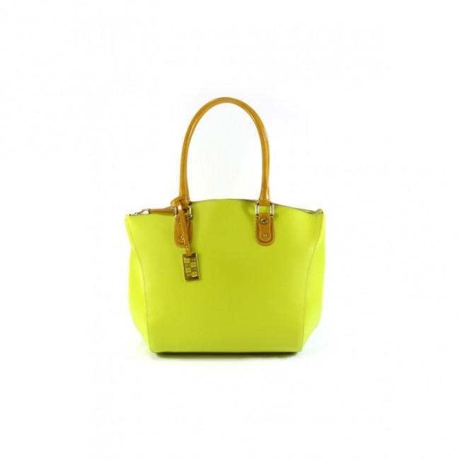 Limonkowy kuferek z oryginalną fakturą Sara Burglar