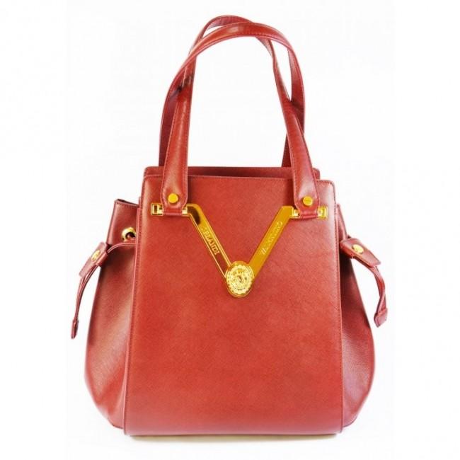 Czerwony kuferek damski Valentino Orlandi