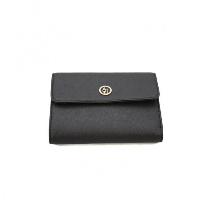 Czarny krótki portfel Armani Jeans