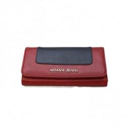 Granatowo czerwony portfel Armani Jeans