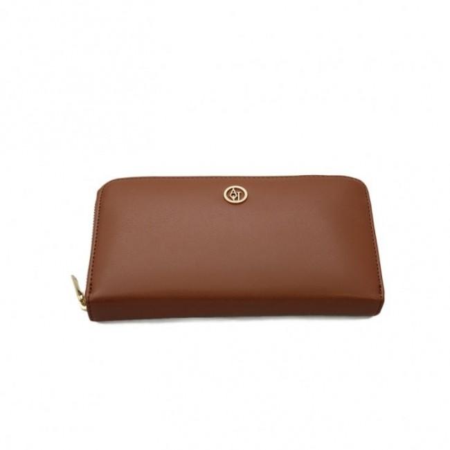 Karmelowy długi portfel Armani Jeans