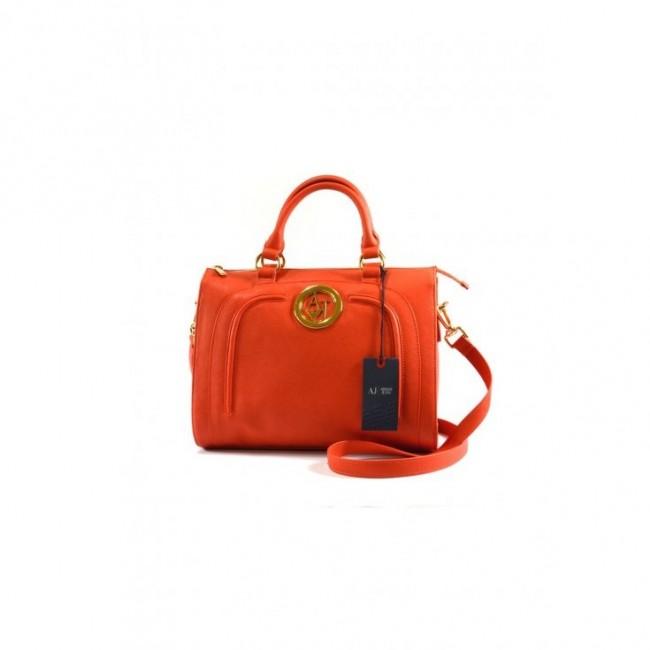 Pomarańczowy zgrabny kuferek Armani Jeans