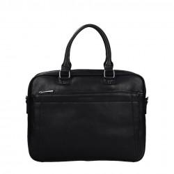 Czarna wygodna pojemna torba na laptopa David Jones z funkcjonalnymi kieszeniami 686603 BLACK