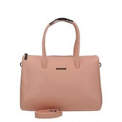 Różowa pastelowa piękna torebka Monnari z paskiem BAG A490-004 J16