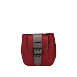 Mała czerwona oryginalna kopertówka Monnari z szarym paskiem BAG W17 0400-005