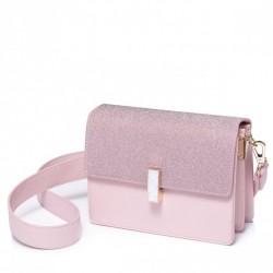 NUCELLE Torebka kopertówka, w kolorze różowym z brokatową klapką