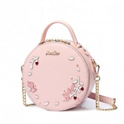 Okrągła różowa torebka