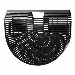 Torebka koszyk bambusowy duży w kolorze czarnym FRENCH RIVIERA