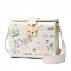 ''JUST STAR''' biały kuferek dla dziewczynek