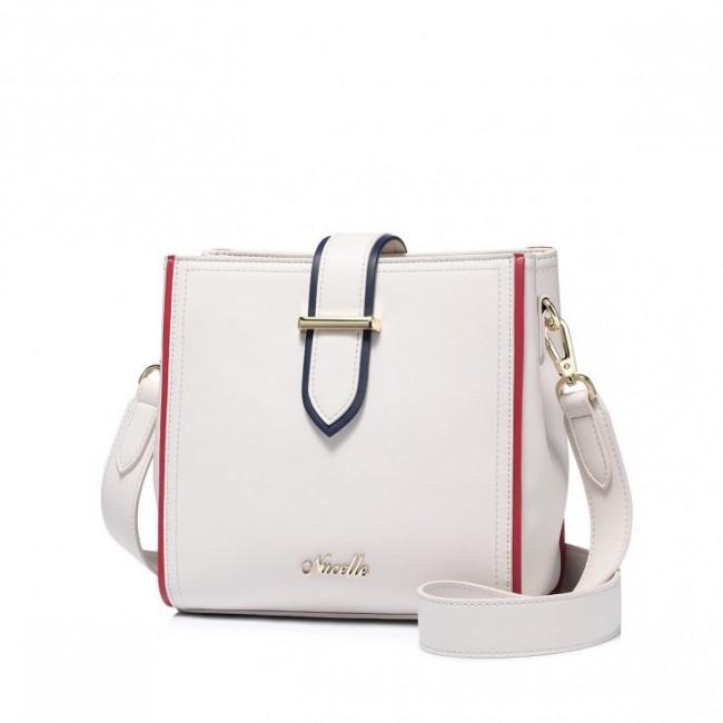 Nucelle biała torebka w kształcie kuferka na ramię