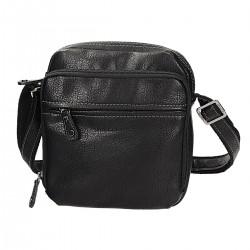 Czarna męska torba listonoszka DAVID JONES 694403