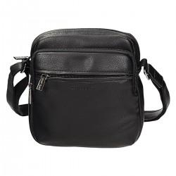 Czarna męska torba listonoszka DAVID JONES 694403C